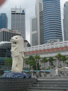 The Merlion--Singapore's iconic mascot